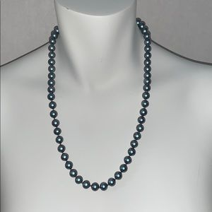 "Jewelry - GORGEOUS 22"" STRAND OF KNOTTED FAUX BLACK PEARLS"